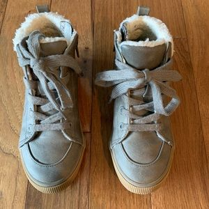 Little boy size 13 fur-lined boots